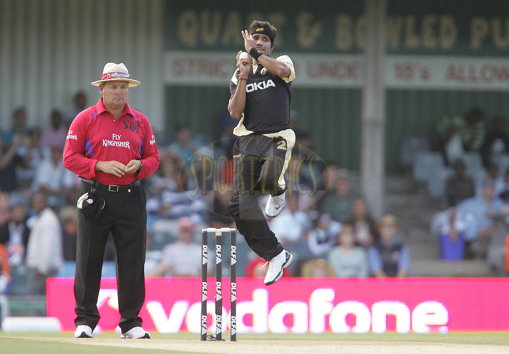 EAST LONDON, SOUTH AFRICA - 1 May 2009. Ashoke Dinda during the  IPL Season 2 match between the Mumbai Indians and the Kolkata Knight Riders held at Buffalo Park in East London. South Africa..