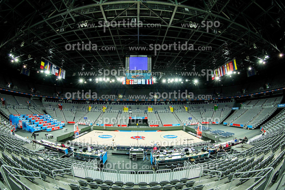Arena Zagreb 1 day prior to the FIBA Europe Eurobasket 2015, on September 4, 2015, in Arena Zagreb, Croatia. Photo by Vid Ponikvar / Sportida