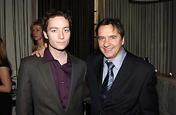 Left to right, SEBASTIAN BLANC and his father RAYMOND BLANC at a party to celebrate the opening of W'Sens - a new fine french restaurant at 12 Waterloo Place, London SW1 on 10th December 2004.<br />