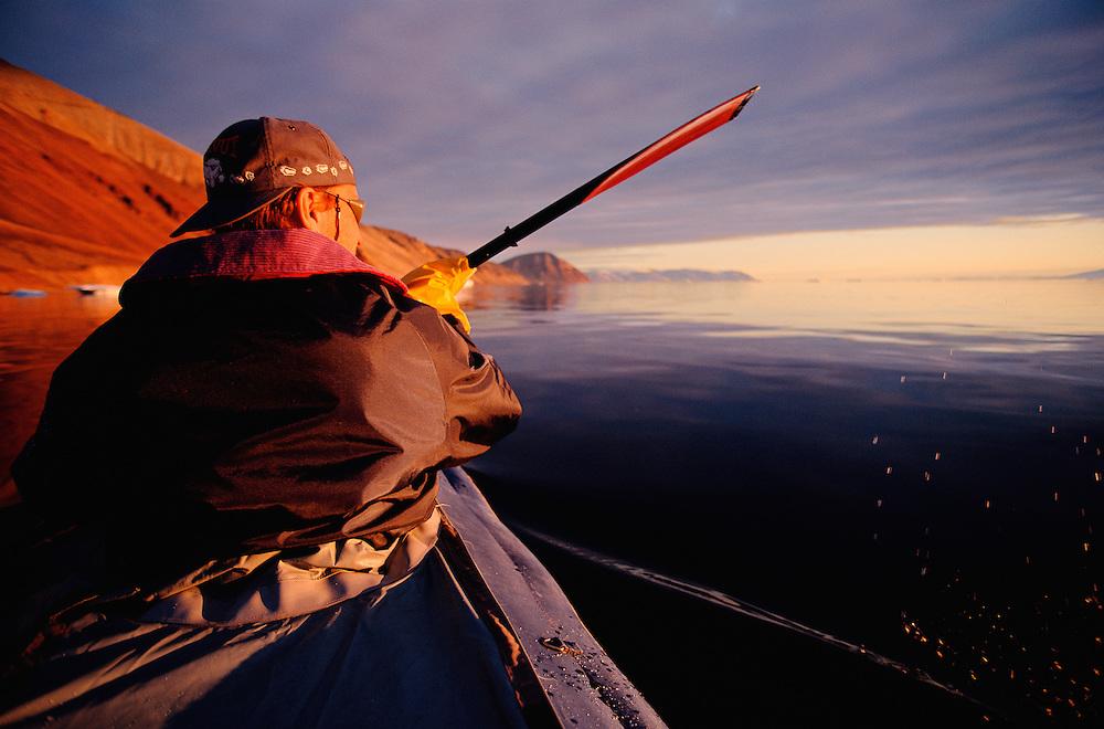 Kayak ecotourism, Quaanaaq, North West, Greenland