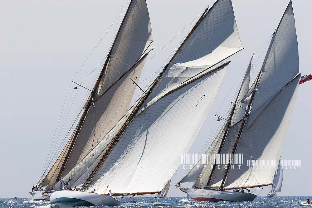 Lulworth, Orion and Mariquita.Voiles d'Antibes 2007.