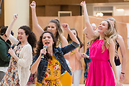 "Town of Wallkill, New York - James I. O'Neill High School students perform a sample of the musical ""Legally Blonde"" in the 2018 All-County Musical Showcase and Visual Arts Display at the Galleria at Crystal Run on Feb. 24, 2018."