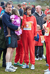 LNP Weekly Highlights 28/03/14  © Licensed to London News Pictures.  23/03/2014. OXFORD, UK. Prime minister DAVID CAMERON (left) and wife SAMANTHA CAMERON (centre) and family at the start of the Oxford Sport Relief Mile. Photo credit: Cliff Hide/LNP