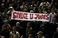 Photo: Glyn Thomas.<br />Birmingham City v Blackburn Rovers. The Barclays Premiership. 19/04/2006.<br /> Birmingham's fans show their feelings about Robbie Savage.
