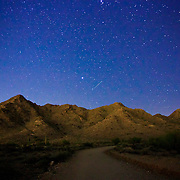 Stars over a trail at San Tan Regional Park - Queen Creek, AZ