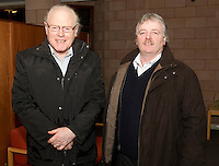 Joe Costelloe Caltra and Paul Connolly Castleblakeney at the Sheep Seminar at the Teagasc Liam Mellows campus Athenry Picture:Andrew Downes.