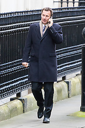 Downing Street, London, February 21st 2017. Health Secretary Jeremy Hunt attends the weekly cabinet meeting at 10 Downing Street in London.