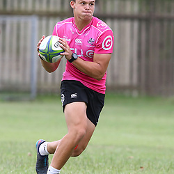 Curwin Bosch during the cell c sharks training session at  Growthpoint Kings Park 13,02,2018 Photo by Steve Haag)