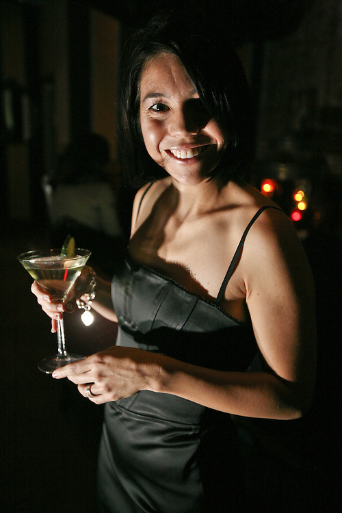 A cocktail waitress at Wisdom.
