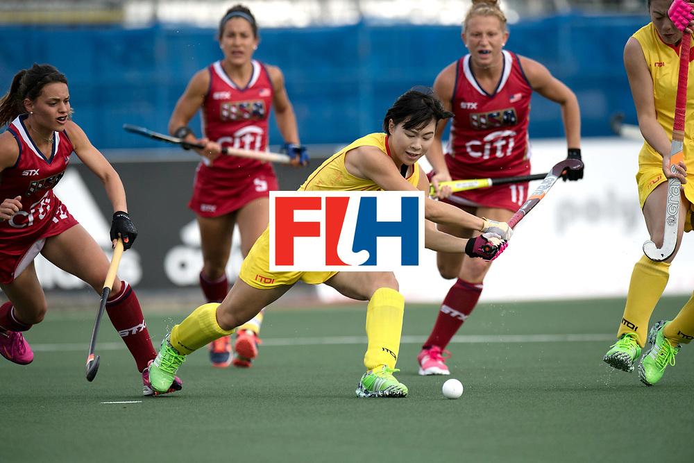 AUCKLAND - Sentinel Hockey World League final women<br /> Match id: 10309<br /> 19 USA v CHN (Losing Q/Finalists Match)<br /> Foto: Bingfeng Gu <br /> WORLDSPORTPICS COPYRIGHT FRANK UIJLENBROEK