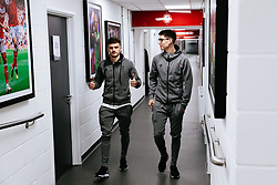Jamie Paterson and Callum O'Dowda of Bristol City arrive - Rogan/JMP - 18/01/2020 - Ashton Gate Stadium - Bristol, England - Bristol City v Barnsley - Sky Bet Championship.