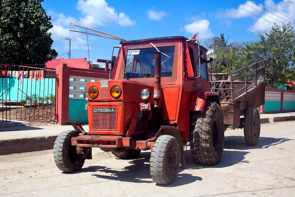 Citroen tractor in Velasco, Holguin, Cuba.