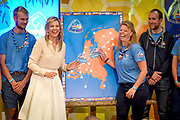 Koningin Maxima bezoekt scoutinggroep Hubertus Brandaan in Voorburg. De vorstin is hier voor een bijeenkomst van de organisatie van Roverway 2018, een internationaal evenement voor scouts tussen de 16 en 22 jaar uit Europa.<br /> <br /> Queen Maxima visits scouting group Hubertus Brandaan in Voorburg. The queen is here for a meeting of the organization of Roverway 2018, an international event for scouts between 16 and 22 years from Europe.