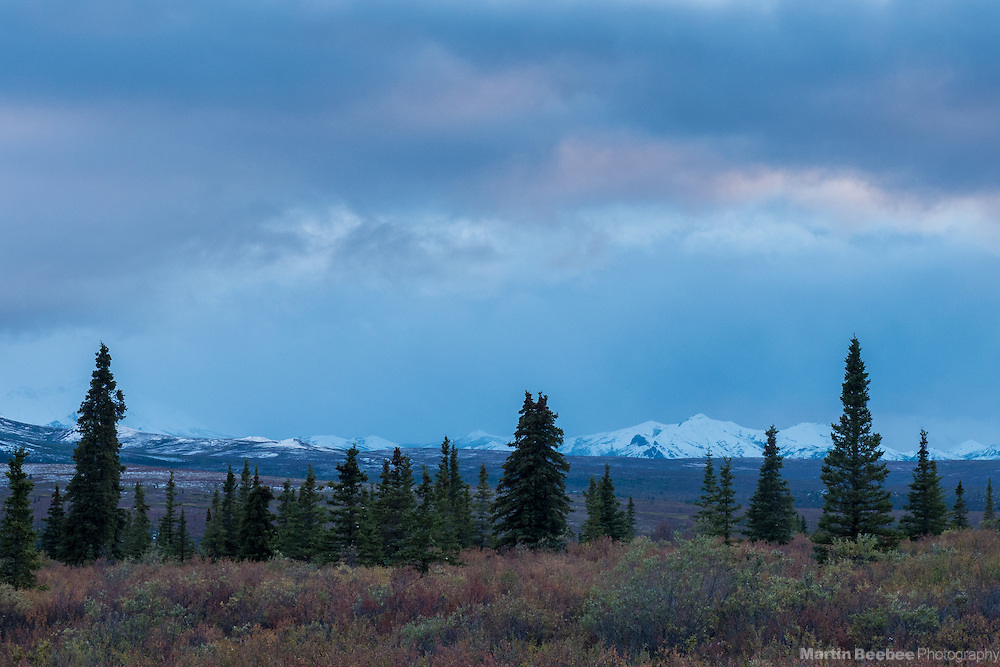 Storm clouds over The Alaska Range, Denali National Park, Alaska