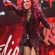 NATALIE LA ROSE performs at the Hot 99.5 Jingle Ball at the Verizon Center in Washington, D.C.