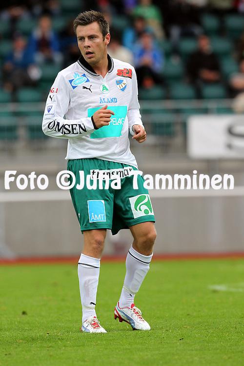 2.9.2012, Wiklof Holding Arena, Mariehamn / Maarianhamina..Veikkausliiga 2012..IFK Mariehamn - Kuopion Palloseura..Tommy Wirtanen - IFK Mhamn.