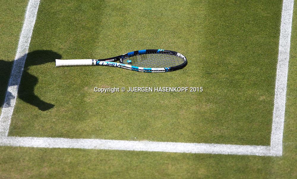 Garbine Muguruza Schlaeger<br /> <br /> Tennis - Wimbledon 2015 - Grand Slam ITF / ATP / WTA -  AELTC - London -  - Great Britain  - 4 July 2015.