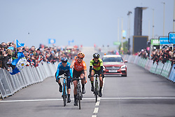 Top three: Marianne Vos (NED), Mavi Garcia (ESP) and Soraya Paladin (ITA) at ASDA Tour de Yorkshire Women's Race 2019 - Stage 2, a 132 km road race from Bridlington to Scarborough, United Kingdom on May 4, 2019. Photo by Sean Robinson/velofocus.com