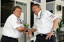 Motorsports / Formula 1: World Championship 2010, GP of Brazil, Norbert Haug (GER, Mercedes GP Petronas), Ross Brawn (ENG, Mercedes GP Petronas),