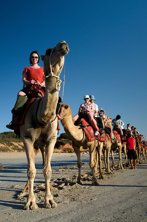 Camel rides at Cable Beach, Broome, the Kimberley, Western Australia - Photograph by David Dare Parker °SOUTH