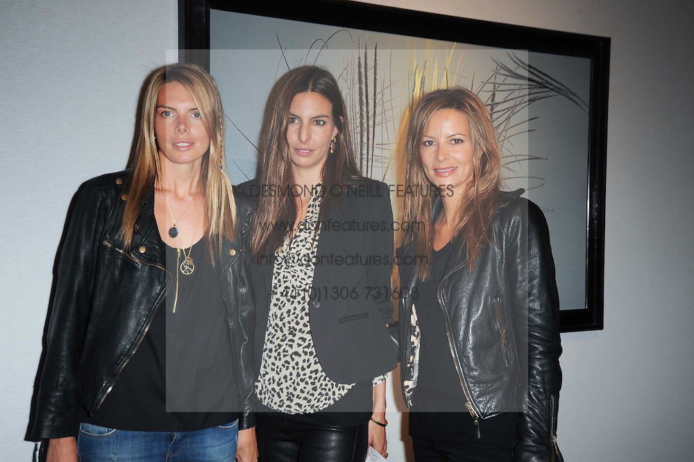 Private View of the Pavilion of Art & Design London 2010 held in Berkeley Square, London on 11th October 2010.<br /> Picture Shows:-Left to right, sisters CAMILLA SIMON, ZARA SIMON and JESSICA SIMON.