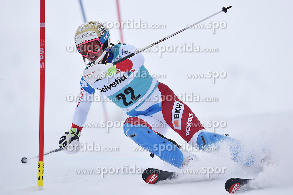 13.03.2016, Pista Silvano Beltrametti, Lenzerheide, SUI, FIS Weltcup Ski Alpin, Lenzerheide, Superkombination, Slalom, Damen, im Bild Michelle Gisin (SUI) // during ladie's Supercombi, Slalom Race of Lenzerheide FIS Ski Alpine World Cup at the Pista Silvano Beltrametti in Lenzerheide, Switzerland on 2016/03/13. EXPA Pictures &copy; 2016, PhotoCredit: EXPA/ Freshfocus/ Manuel Lopez<br /> <br /> *****ATTENTION - for AUT, SLO, CRO, SRB, BIH, MAZ only*****