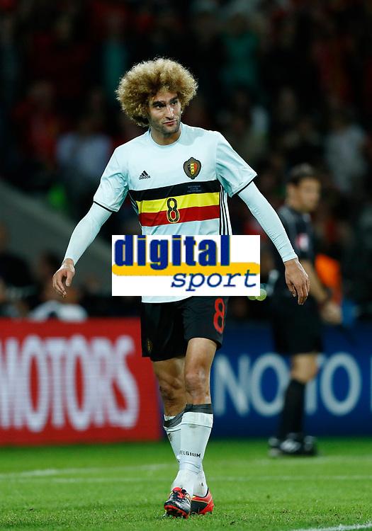 The delusion of Marouane Fellaini (Belgium). delusione<br /> Lille 01-07-2016 Stade Pierre Mauroy Football Euro2016 Wales - Belgium / Galles - Belgio <br /> Quarter-finals. Foto Matteo Ciambelli / Insidefoto