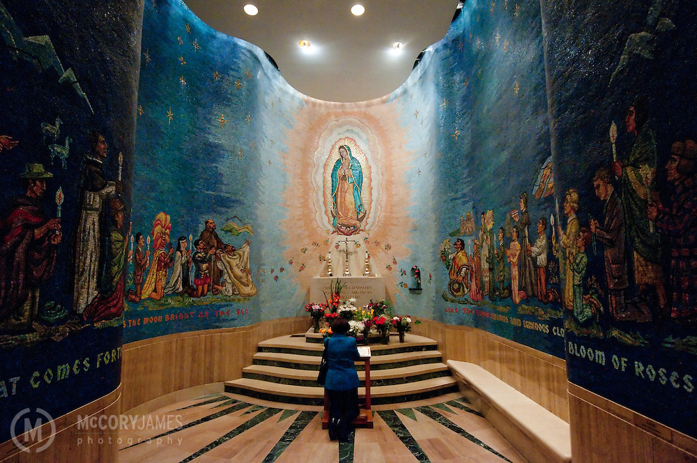 A mosaic prayer room inside Basilica of the National Shrine of the Immaculate Conception