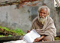 nepal monk writing