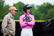 April 25, 2015. Queen's Cup Steeplechase. Jockey Bernie Dalton