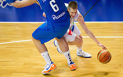 Amedeo Tessitori of Italy vs Klemen Prepelic of Slovenia during basketball match between National team of Slovenia and Italy in First Round of U20 Men European Championship Slovenia 2012, on July 12, 2012 in Domzale, Slovenia.  (Photo by Vid Ponikvar / Sportida.com)