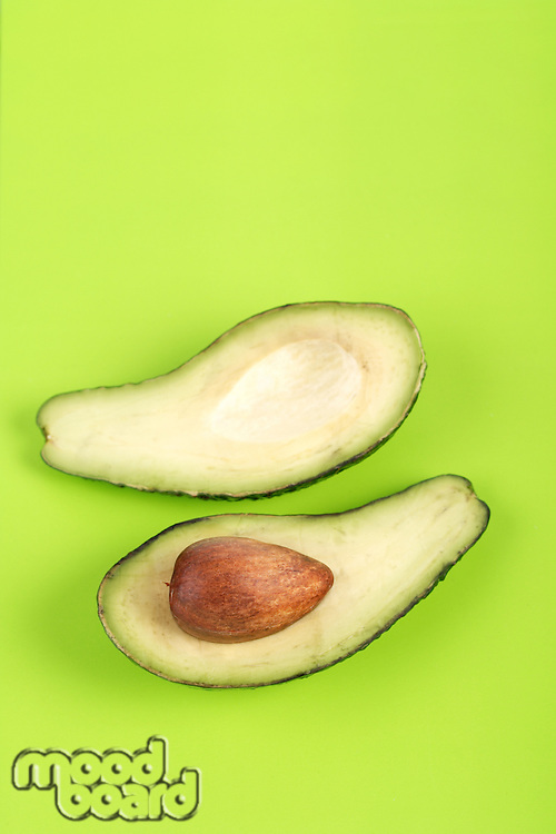 Studio shot of avocado on white background