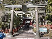 Japan, Tochigi, Nikko, Tosho-gu shrine Torii the entrance gate