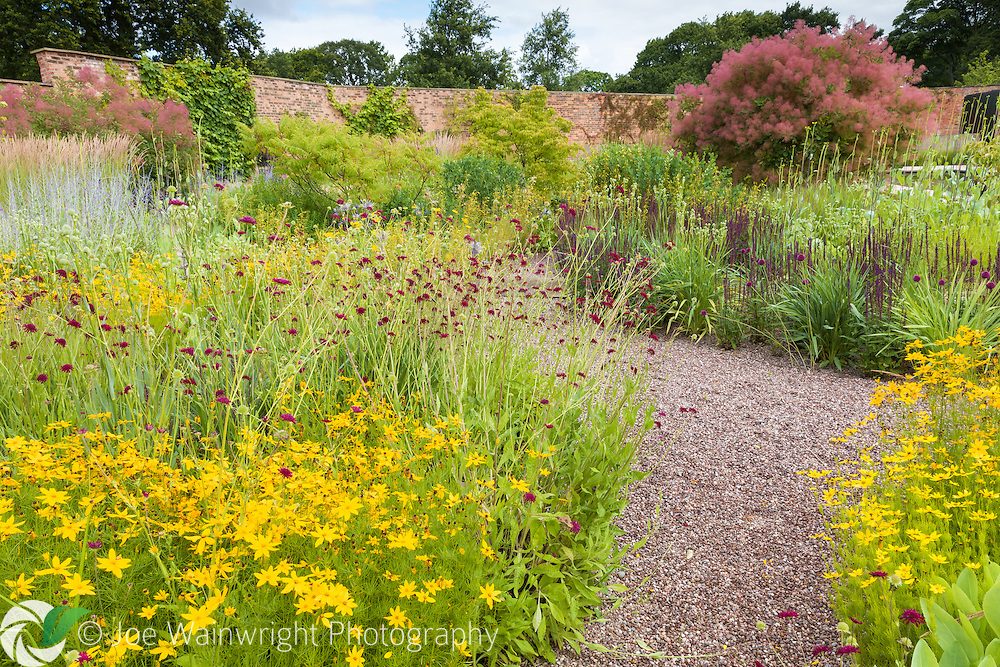 Planting in the Walled Garden at Cogshall Grange, Cheshire, designed by Tom Stuart-Smith