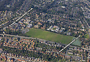 aerial photograph of Queen Anns School  Reading Berkshire  England UK