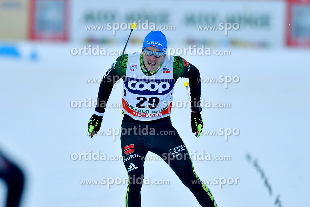 16.12.2017, Nordic Arena, Toblach, ITA, FIS Weltcup Langlauf, Toblach, Herren, 15 km, im Bild Lucas B&ouml;gl (GER) // Lucas B&ouml;gl of Germany during men's 15 km of the FIS Cross Country World Cup at the Nordic Arena in Toblach, Italy on 2017/12/16. EXPA Pictures &copy; 2017, PhotoCredit: EXPA/ Nisse Schmidt<br /> <br /> *****ATTENTION - OUT of SWE*****