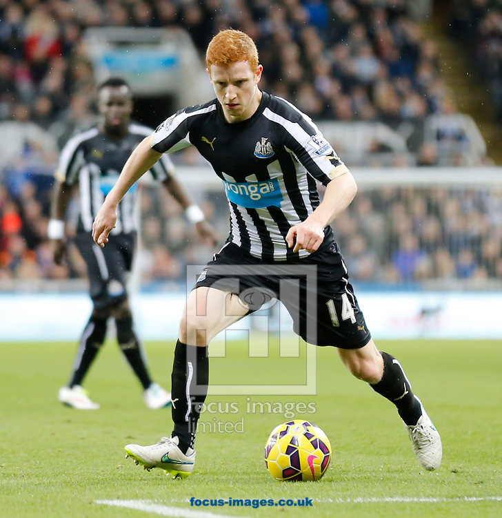 Jack Colback of Newcastle United during the Barclays Premier League match at St. James's Park, Newcastle<br /> Picture by Simon Moore/Focus Images Ltd 07807 671782<br /> 01/01/2015
