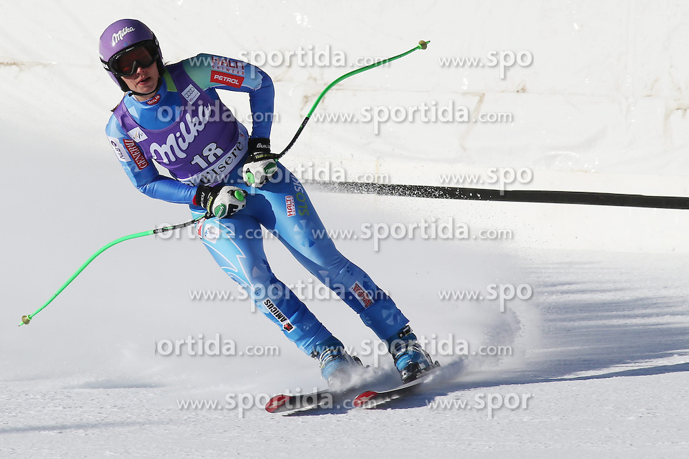 21.12.2013, Stade Olympique de Bellevarde, Val d Isere, FRA, FIS Weltcup Ski Alpin, Val d Isere, Abfahrt, Damen, im Bild Tina Maze (SLO) // Tina Maze (SLO) during Womens Downhill of the Val d Isere FIS Ski Alpin World Cup at the Stade Olympique de Bellevarde in Val d Isere, France on 2013/12/21. EXPA Pictures © 2013, PhotoCredit: EXPA/ Sammy Minkoff