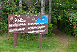 Trail head for the Grand Portage trail, Grand Portage National Monument, Grand Portage, Minnesota, United States of America
