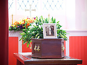 Leslie Rhodes funeral at North East Surrey Crematorium, Morden, Surrey, Great Britain 5th May 2017 <br /> <br /> Leslie Rhodes was one of the victims of the Westminster terror attack on 22nd March 2017. Mr Rhodes was Winston Churchill's former window cleaner.<br /> <br /> Leslie Rhodes, from south London, suffered serious injuries when terrorist Khalid Masood mowed down pedestrians on Westminster Bridge. The 75-year-old was rushed to King&rsquo;s College Hospital but died there when his life support was withdrawn at about 8.25pm the following day. <br /> <br /> He had been attending an appointment at St Thomas&rsquo;s Hospital before Masood went on a rampage &ndash; killing four and injuring 50 before he was shot dead by police.<br /> <br /> Mr Rhodes, who friends revealed was the former window cleaner of Winston Churchill, suffered broken ribs and a punctured lung in the attack.<br /> <br /> <br /> Photograph by Elliott Franks <br /> Image licensed to Elliott Franks Photography Services