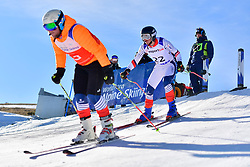 CIVADE Thomas, Guide: LARMET Kerwan, B3, FRA, Giant Slalom at the WPAS_2019 Alpine Skiing World Cup, La Molina, Spain