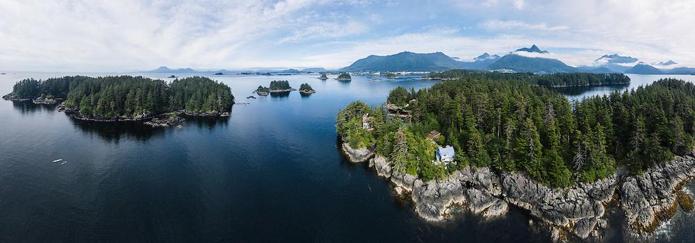 Bamdoroshni Island & Sitka Sound, Southeast Alaska, USA Bamdoroshni Island & Sitka Sound, Sitka, Baranoff Island, Southeast Alaska, USA