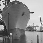 Ship docked at the Port of Tacoma, WA