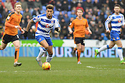 Reading FC midfielder Danny Williams controlling midfield during the Sky Bet Championship match between Reading and Wolverhampton Wanderers at the Madejski Stadium, Reading, England on 6 February 2016. Photo by Mark Davies.