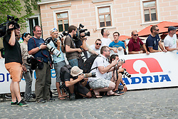 Photographers during Stage 4 from Brezice to Novo mesto (155,8 km) of cycling race 20th Tour de Slovenie 2013,  on June 16, 2013 in Slovenia. (Photo By Vid Ponikvar / Sportida)