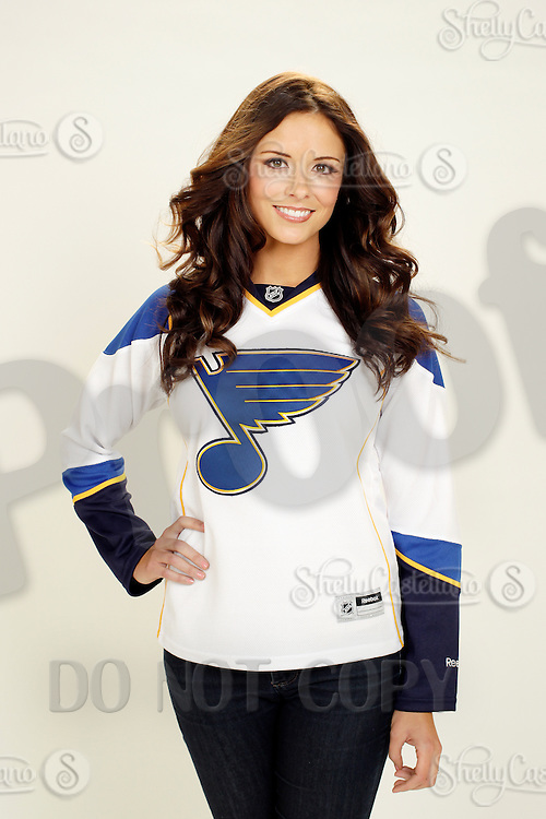 9 November 2012:  Amanda Elliott. Wife of professional hockey player Brian Elliott of the St. Louis Blues. Photographed for the Real Housewives of the National Hockey League in Tustin, CA.