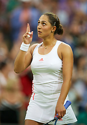27.06.2012, Wimbledon, London, GBR, WTA, The Championships Wimbledon, im Bild Tamira Paszek (AUT) celebrates after winning the Ladies' Singles 1st Round match on day three of the WTA Tour Wimbledon Lawn Tennis Championships at the All England Lawn Tennis and Croquet Club, London, Great Britain on 2012/06/27. EXPA Pictures © 2012, PhotoCredit: EXPA/ Propagandaphoto/ David Rawcliff..***** ATTENTION - OUT OF ENG, GBR, UK *****