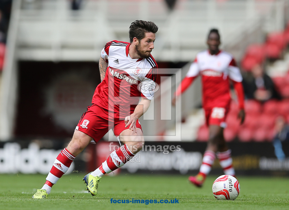 Jacob Butterfield of Middlesbrough during the Sky Bet Championship match at the Riverside Stadium, Middlesbrough<br /> Picture by Simon Moore/Focus Images Ltd 07807 671782<br /> 26/04/2014