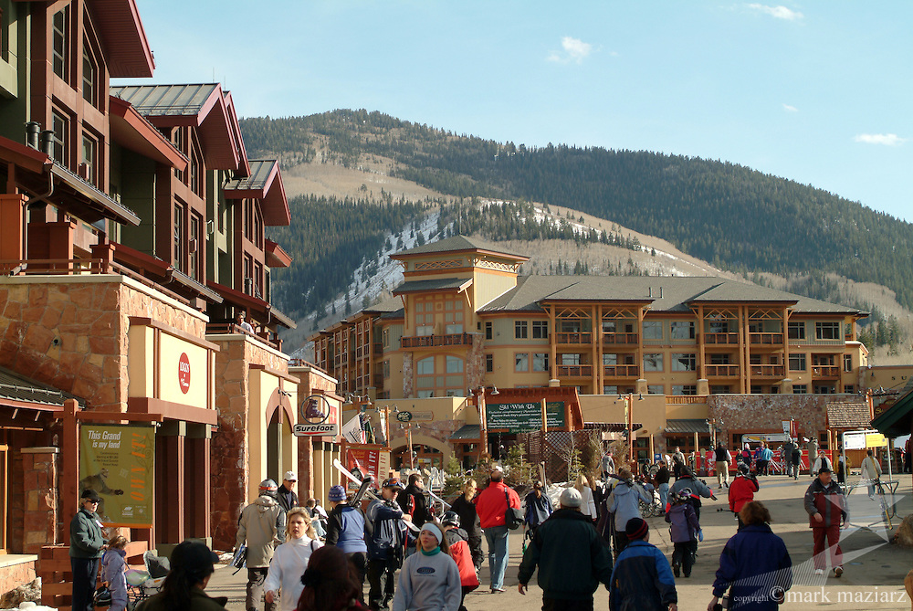 base area of The Canyons, Park City, Utah