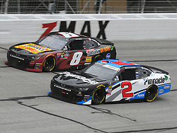 February 23, 2019 - Hampton, GA, U.S. - HAMPTON, GA - FEBRUARY 23: Tyler Reddick, Richard Childress Racing, Chevrolet Camaro Pinnacle Financial Partners (2) and Ryan Preece, JR Motorsports, Chevrolet Camaro Louisiana Hot Sauce (8) race side by side during the Xfinity Series Rinnai 250 on February 23, 2019, at Atlanta Motor Speedway in Hampton, GA.(Photo by Jeffrey Vest/Icon Sportswire) (Credit Image: © Jeffrey Vest/Icon SMI via ZUMA Press)